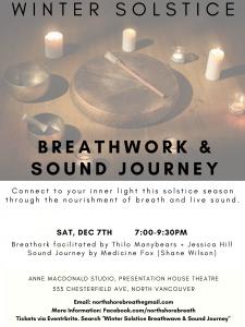 Winter Solstice - Breathwork & Sound Journey @ Anne MacDonald Studio