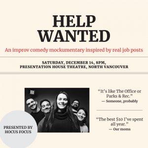 Help Wanted @ Anne MacDonald Hall
