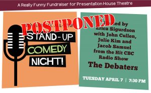 POSTPONED - 5th Annual All-Star Stand-Up Comedy Night @ Presentation House Theatre