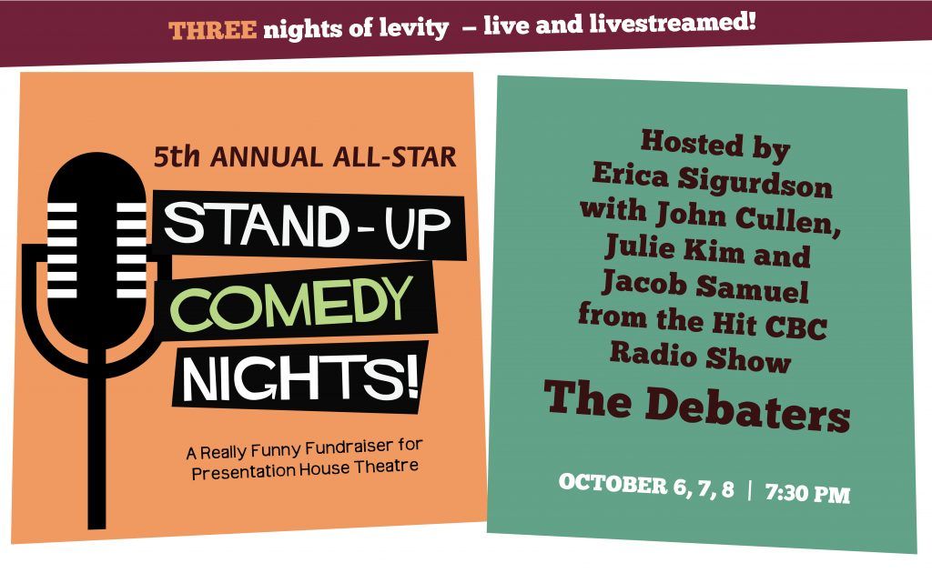 5th Annual All-Star Stand-Up Comedy Nights <br>Live & Livestreamed <br> Oct 6, 7, 8